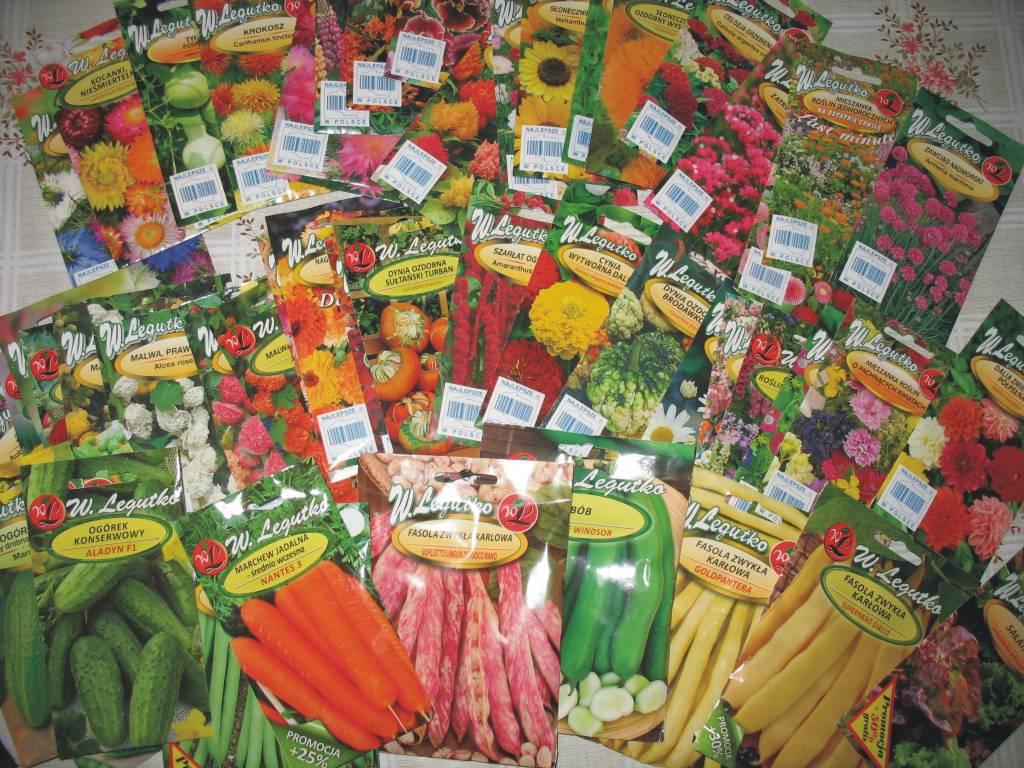 Nasiona kwiatów i warzyw